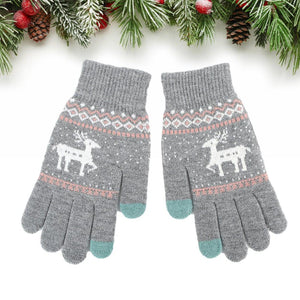 Winter Reindeer Touch Screen Gloves - UPKIWI