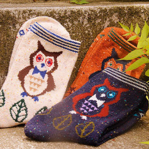 Forest Owl Lightweight Wool Blend Socks - UPKIWI