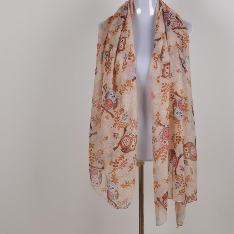 Happy Owl Long Scarf - - UPKIWI