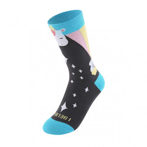 I Believe in Unicorns Women's Crew Socks - M-Women's Shoe Size 5-10 / One Pair - UPKIWI
