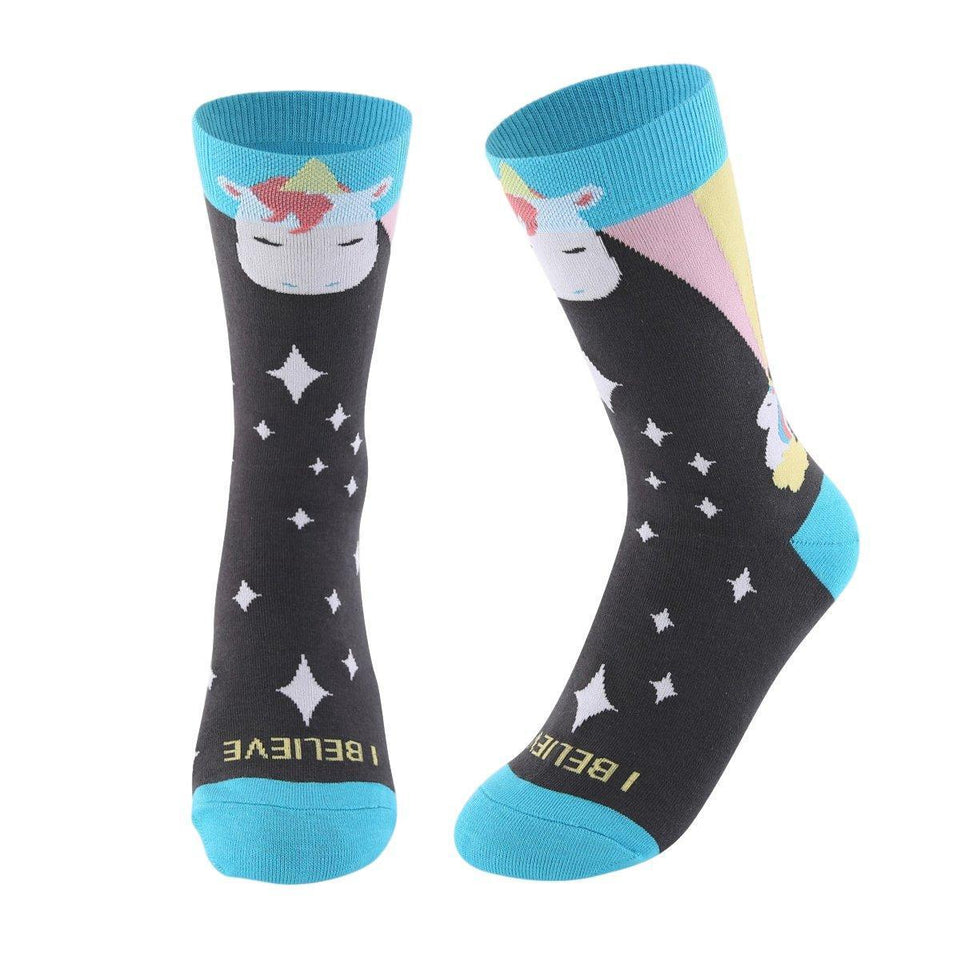 I Believe in Unicorns Women's Crew Socks - - UPKIWI