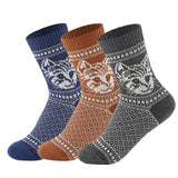 Jacquard Cat Vintage Style Knitted Socks