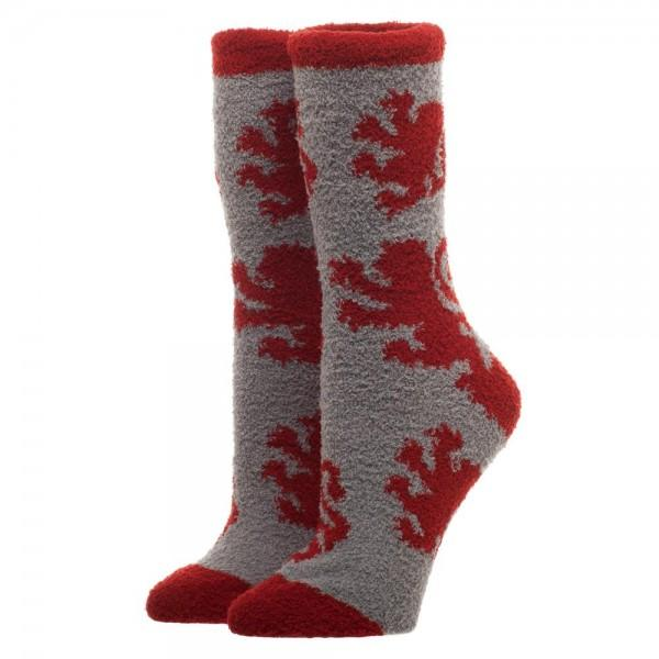 Harry Potter Gryffindor Womens/Juniors Fuzzy Socks