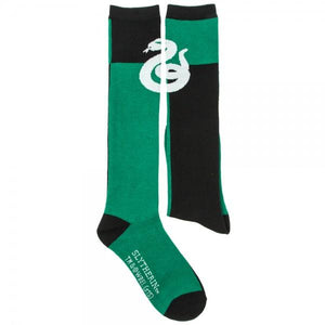 Harry Potter Slytherin Green/Black Juniors Knee High Socks - - UPKIWI