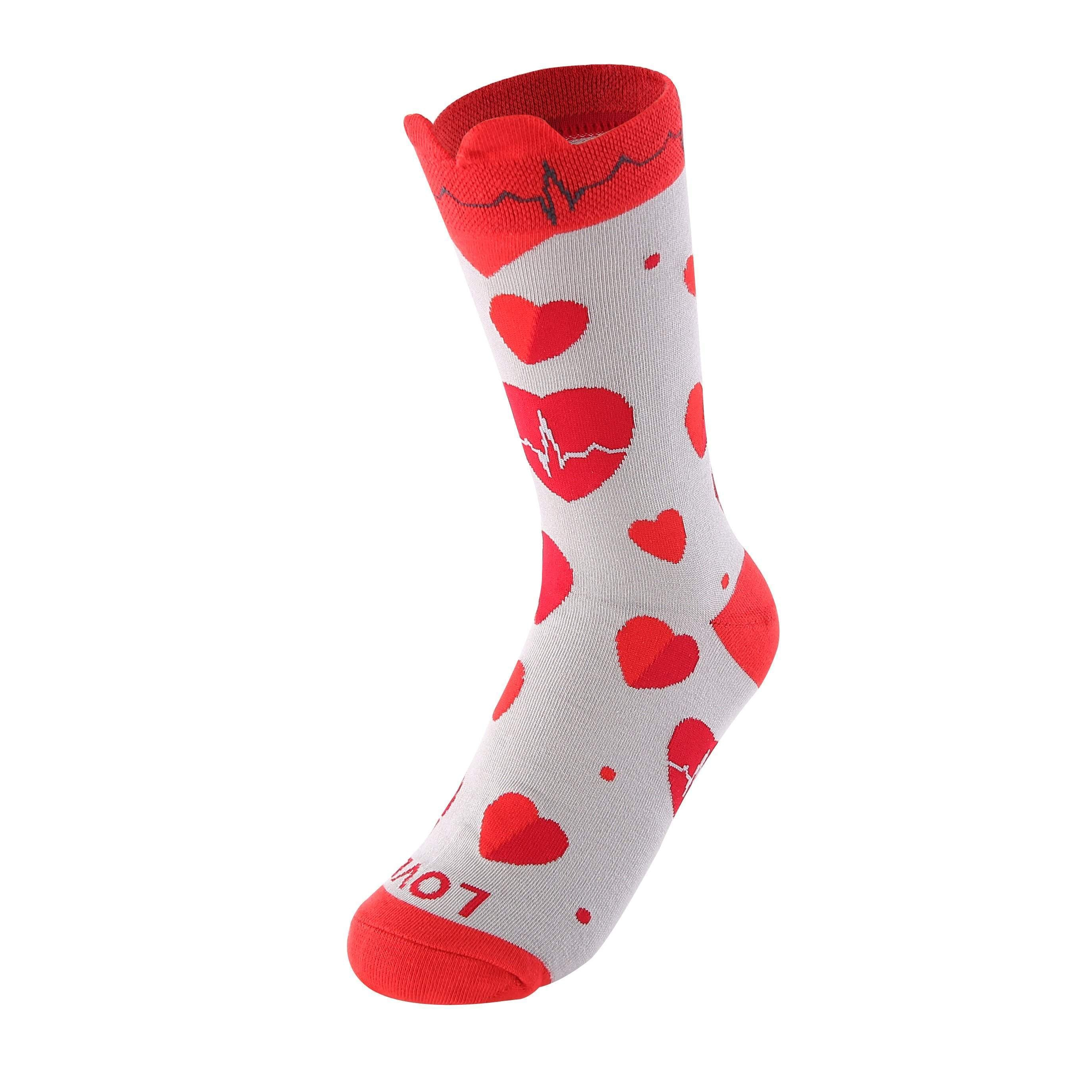 LOVE EKG Heart Women's Crew Socks-UPKIWI