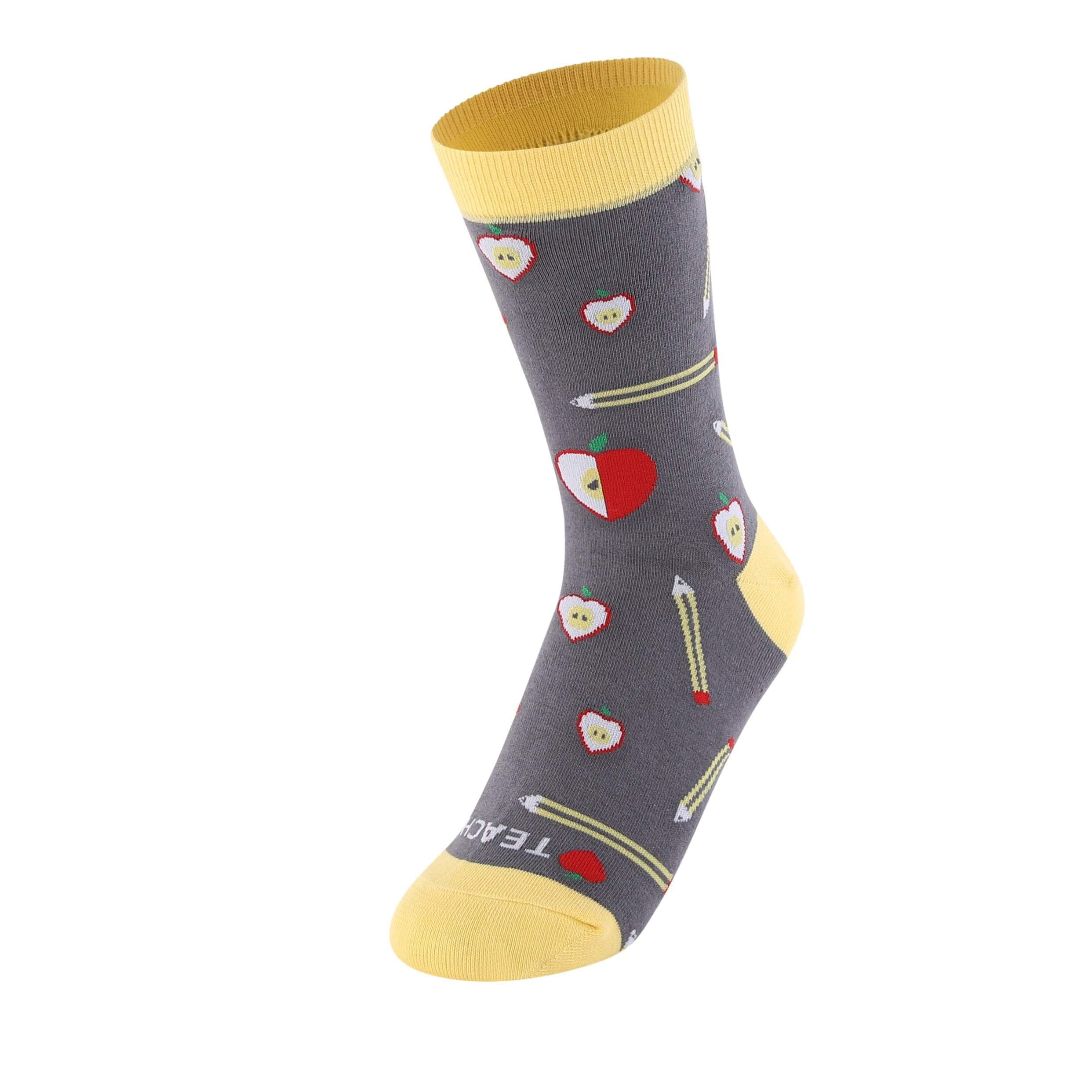 Love Teach Teacher Pattern Women's Crew Socks-UPKIWI