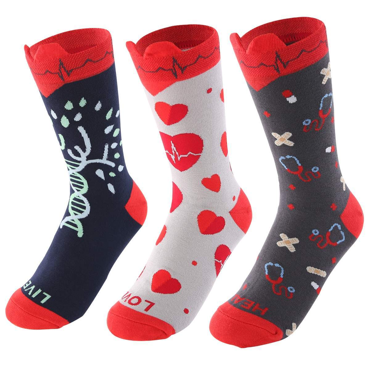 Medical EKG Heart Women's Crew Socks-UPKIWI
