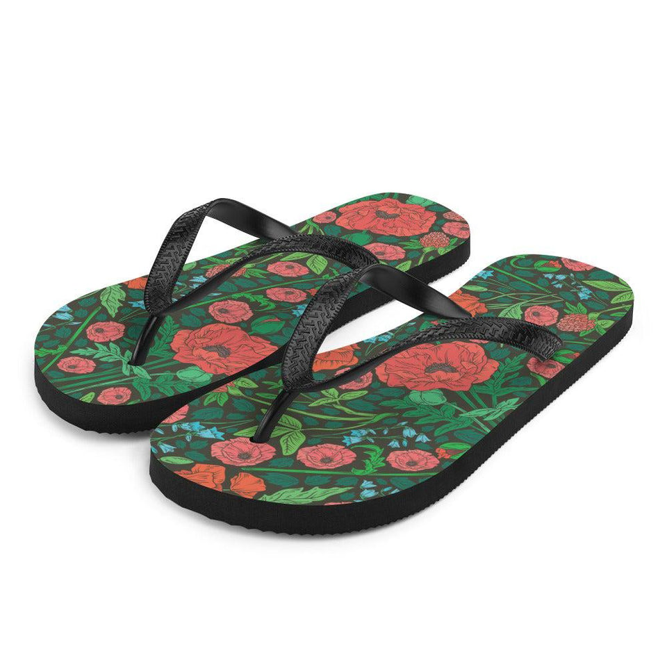 Floral Meadow Sublimation Flip-Flops - S - UPKIWI
