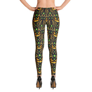 Halloween Cat Pattern All-Over Print Women's Leggings - - UPKIWI