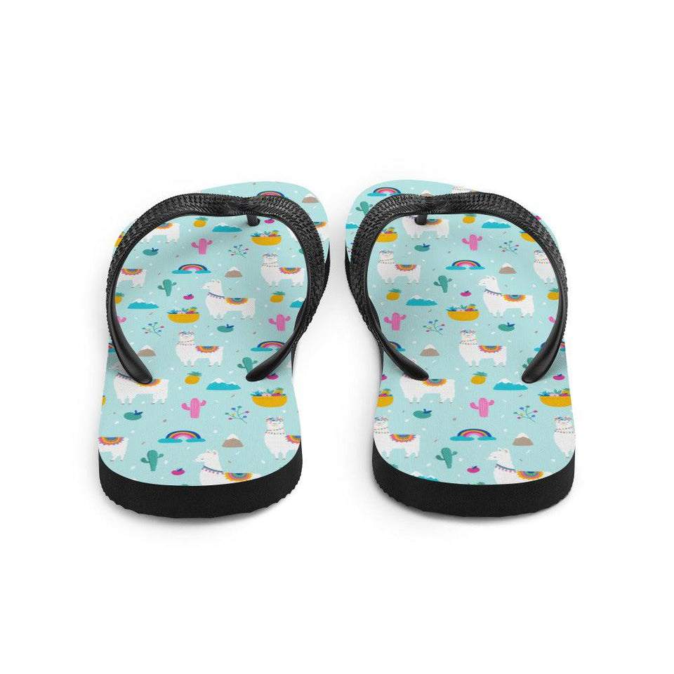 Alpaca and Cactus Sublimation Flip-Flops - UPKIWI