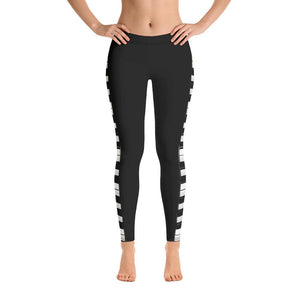 Piano Keyboard Women's All-Over Print Leggings - - UPKIWI