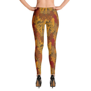 Camo Fall All-over Print Women's Leggings - UPKIWI