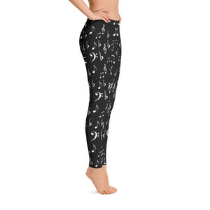 Music Notes Music Lovers All-Over Print Leggings - - UPKIWI