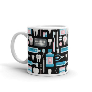 Dental Tool Pattern Coffee Mug - - UPKIWI