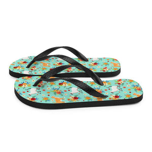 Cats in the Garden Sublimation Flip-Flops - UPKIWI