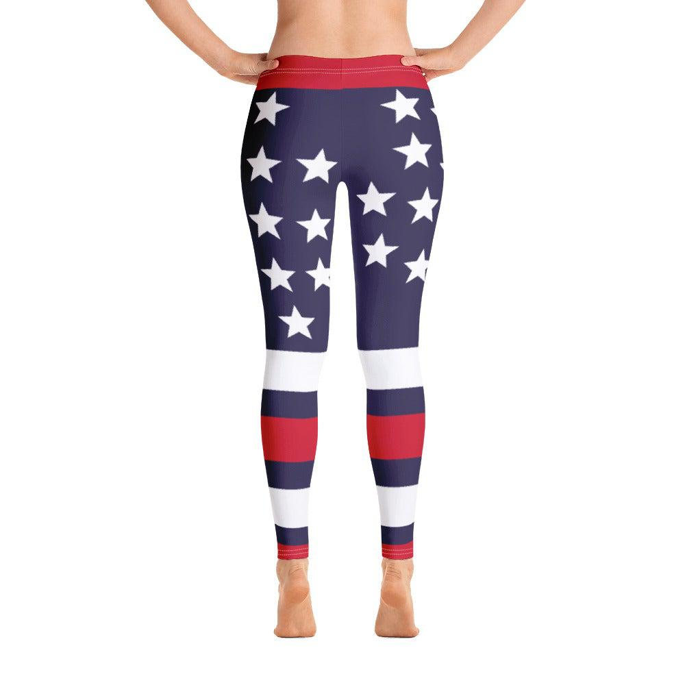 USA Patriot All-Over Print Leggings