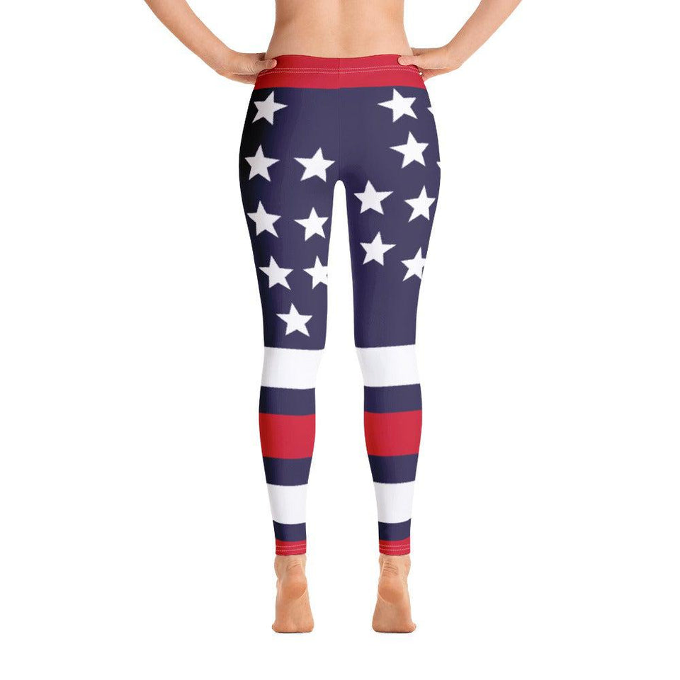 USA Patriot All-Over Print Leggings - XS - UPKIWI