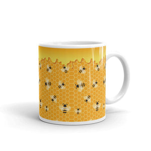 Honey Bee Coffe Mug - Default Title - UPKIWI