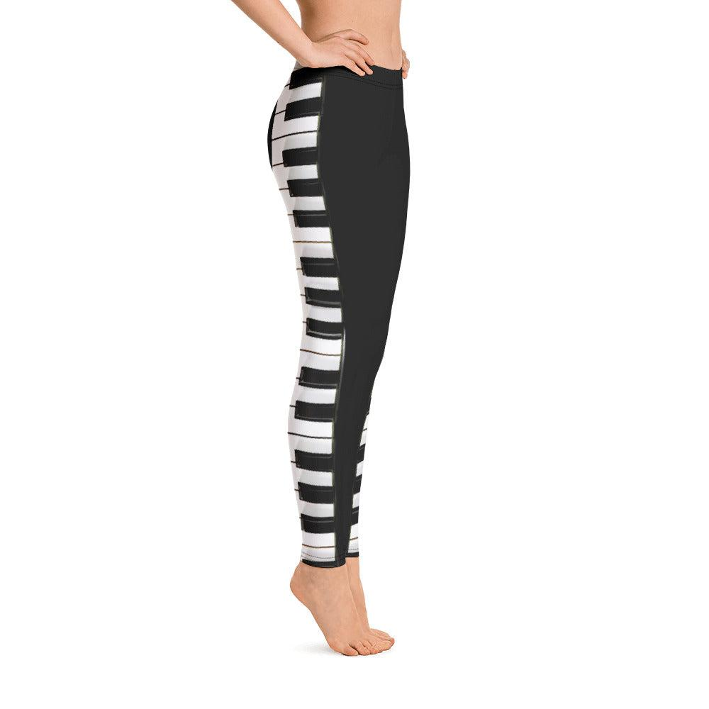 Piano Keyboard Women's All-Over Print Leggings