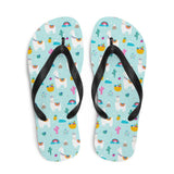 Alpaca and Cactus Sublimation Flip-Flops - S - UPKIWI