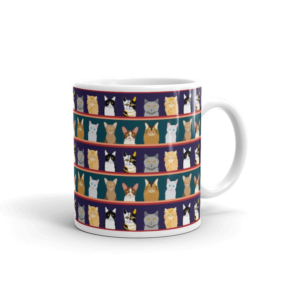 Cat Portrait Coffee Mug - Default Title - UPKIWI