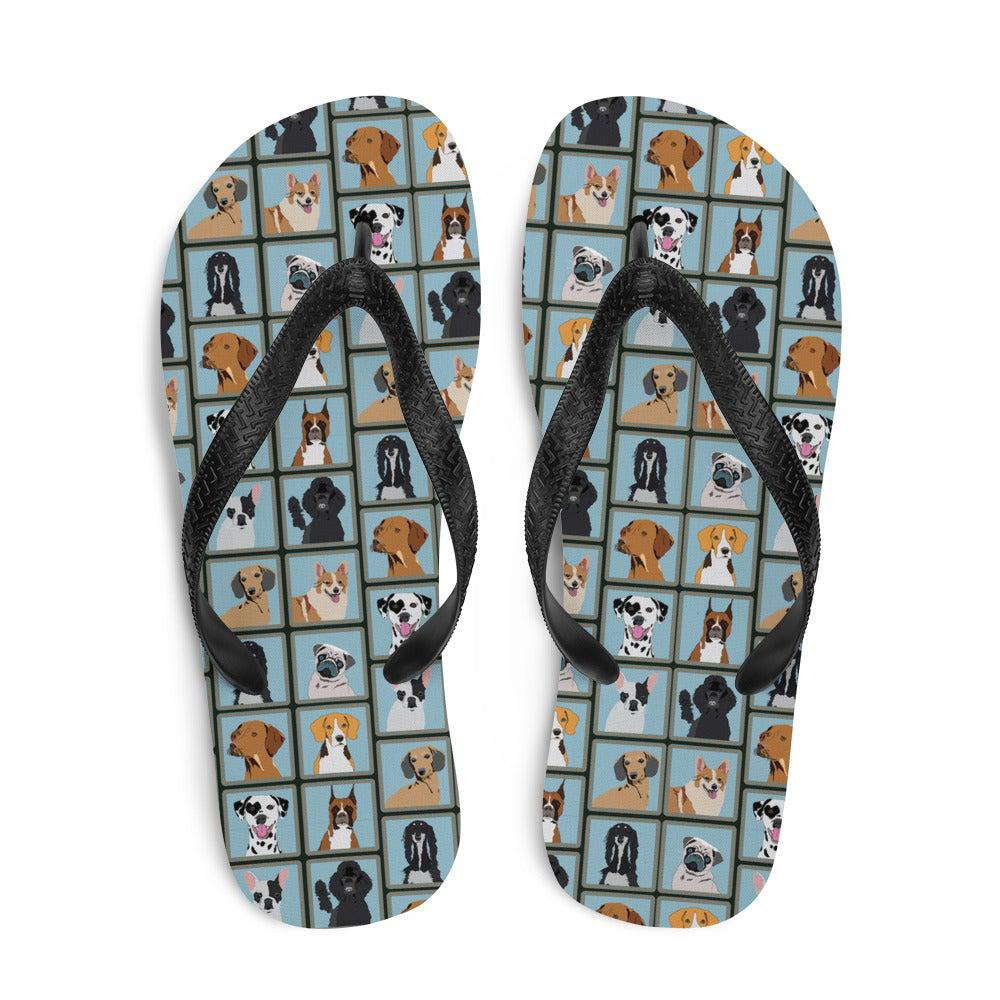 Dog Portraits Sublimation Flip-Flops