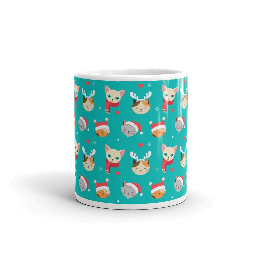 Christmas Cat Coffee Mug - - UPKIWI