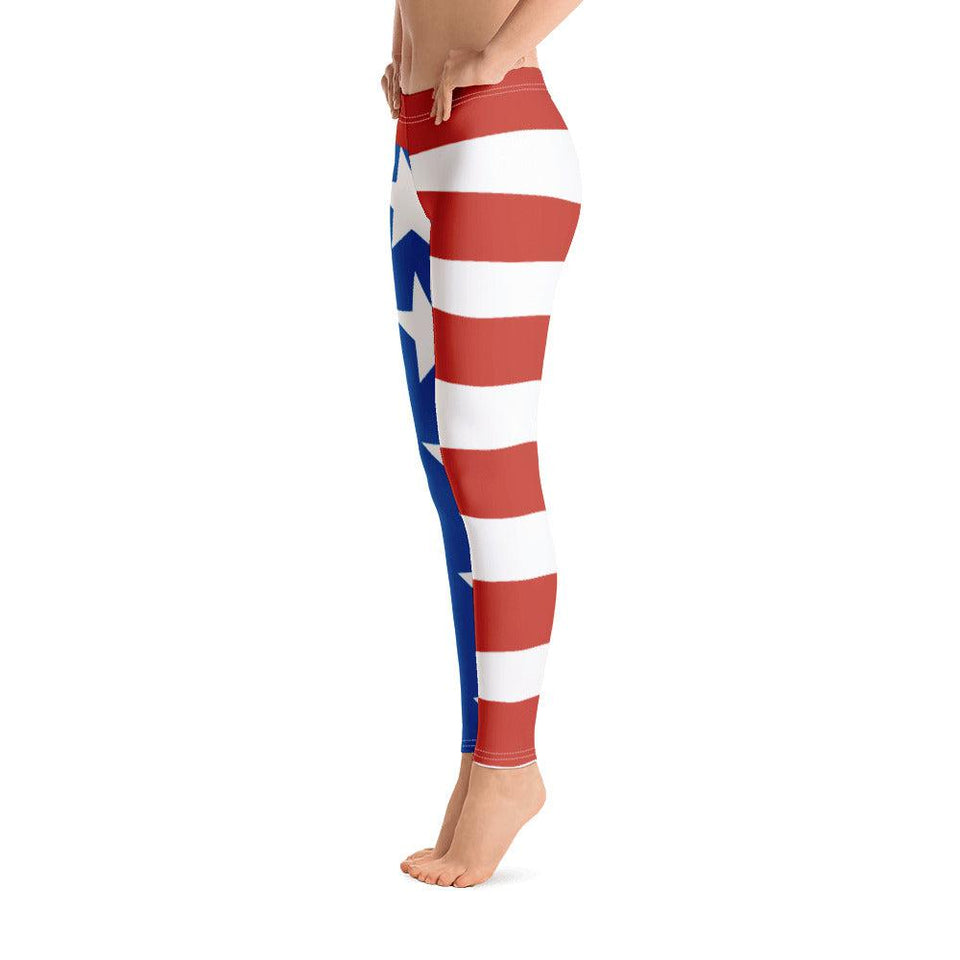 Star Spangled Banner All-Over Print Leggings - UPKIWI