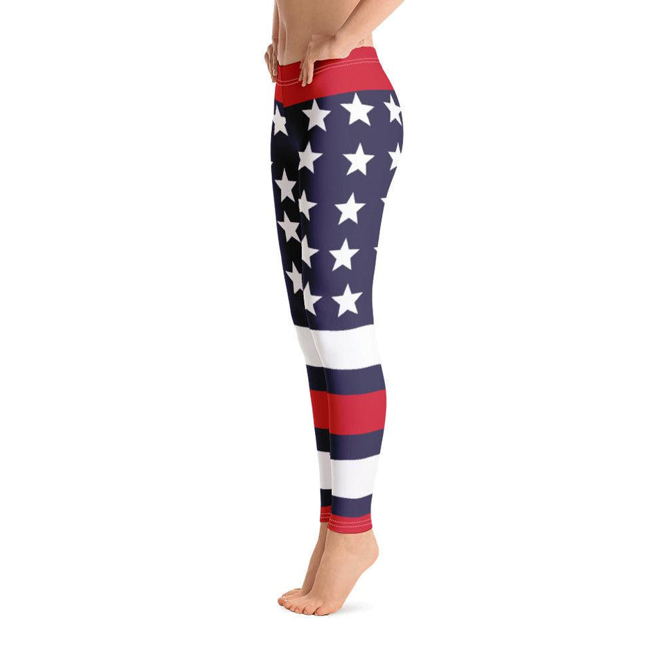 USA Patriot All-Over Print Leggings - - UPKIWI