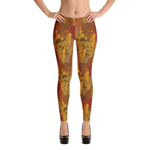 Camo Fall All-over Print Women's Leggings - - UPKIWI