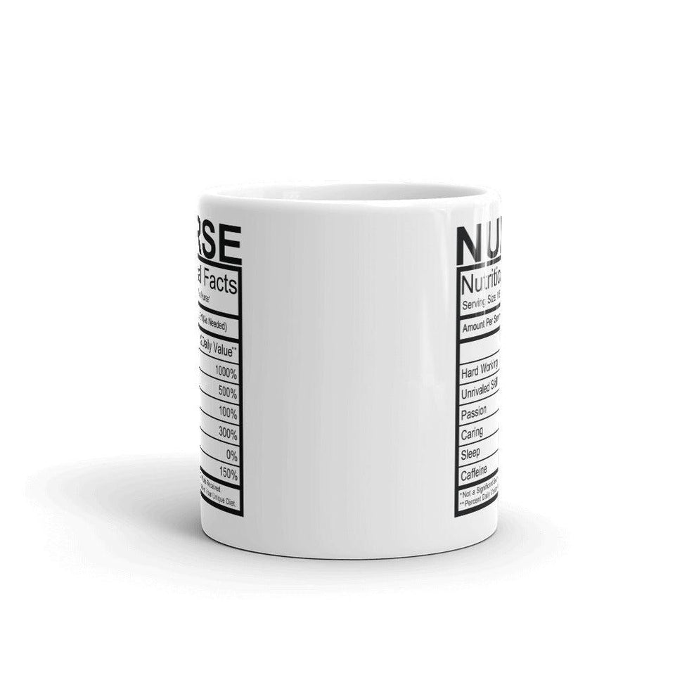 Nurse Nutrition Facts Mug - - UPKIWI