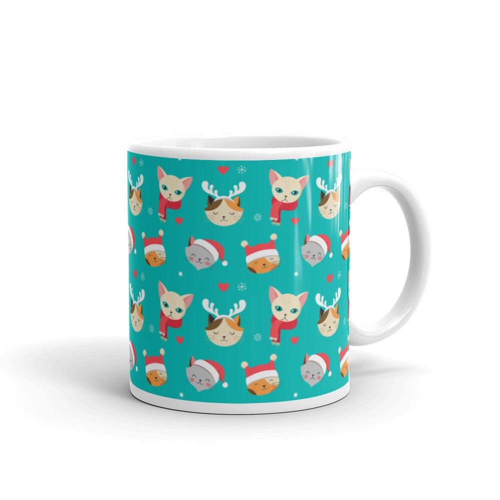 Christmas Cat Coffee Mug - Default Title - UPKIWI