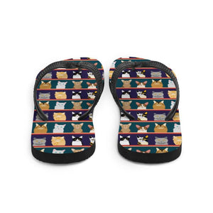 Cat Portraits Sublimation Flip-Flops - UPKIWI