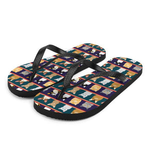 Cat Portraits Sublimation Flip-Flops - - UPKIWI