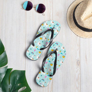 Alpaca and Cactus Sublimation Flip-Flops - - UPKIWI
