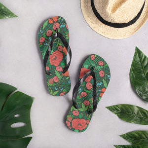 Floral Meadow Sublimation Flip-Flops - UPKIWI