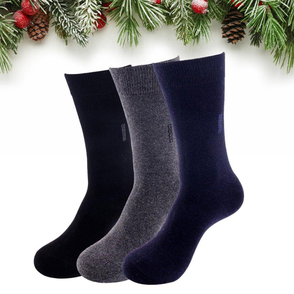 Men's Premium Lightweight Wool Blend Dress Socks - UPKIWI
