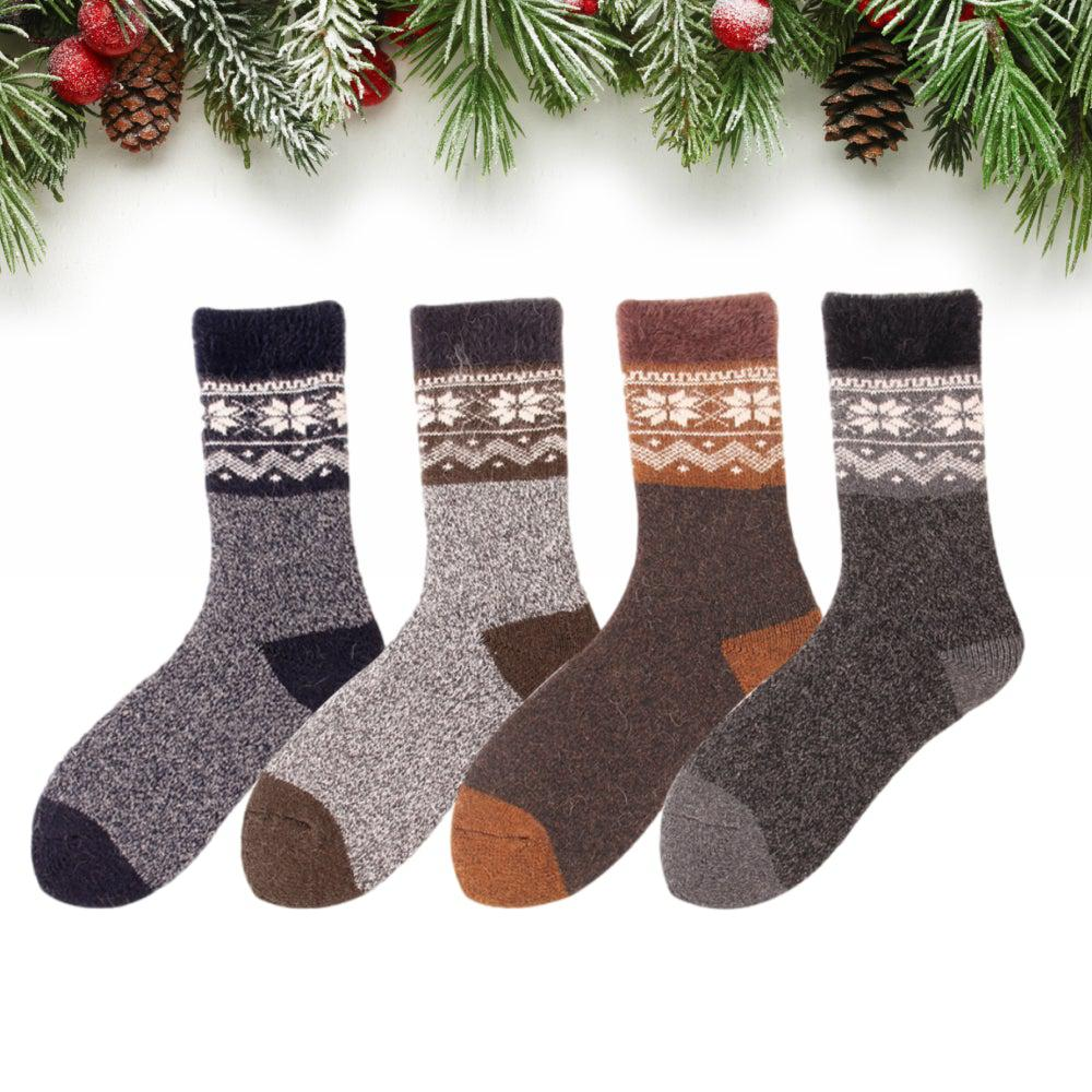 Men's Nordic Ultra Thick and Warm Wool Socks - UPKIWI