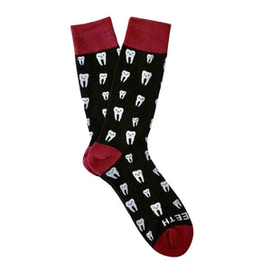 Love Teeth Dental Pattern Crew Socks - - UPKIWI