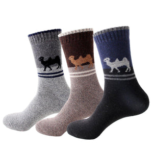 Camel Extra Thick and Warm Men's Wool Socks - - UPKIWI