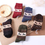 Vintage Reindeer Ultra Warm Wool Blend Socks-UPKIWI