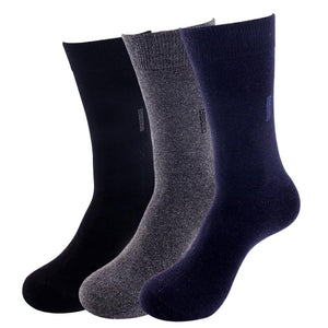 Men's Premium Lightweight Wool Blend Dress Socks - 3 Pairs Pack / Men's Shoe Size 7-13 - UPKIWI