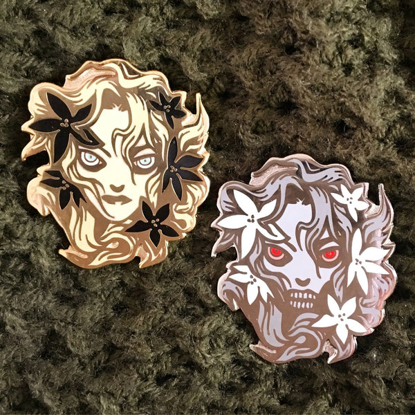 OPHELIA Enamel Pins by Becky Cloonan