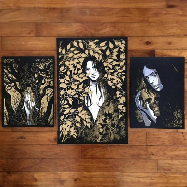 Trismegistus Tryptic Set By Becky Cloonan Poster