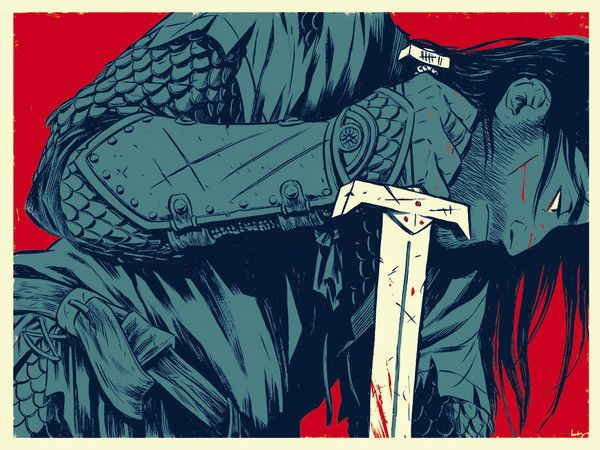 """Leave No Eye Open To Weep For The Dead"" Print by Becky Cloonan"