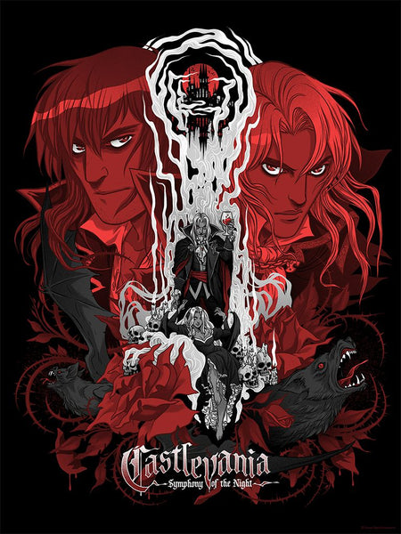 """Castlevania"" AP screenprint by Becky Cloonan"