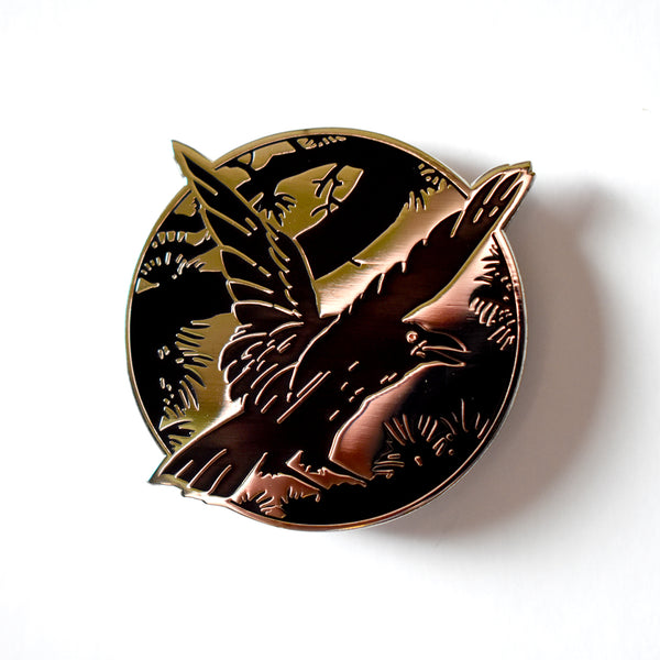 The Raven (Gold) Enamel Pin by Becky Cloonan