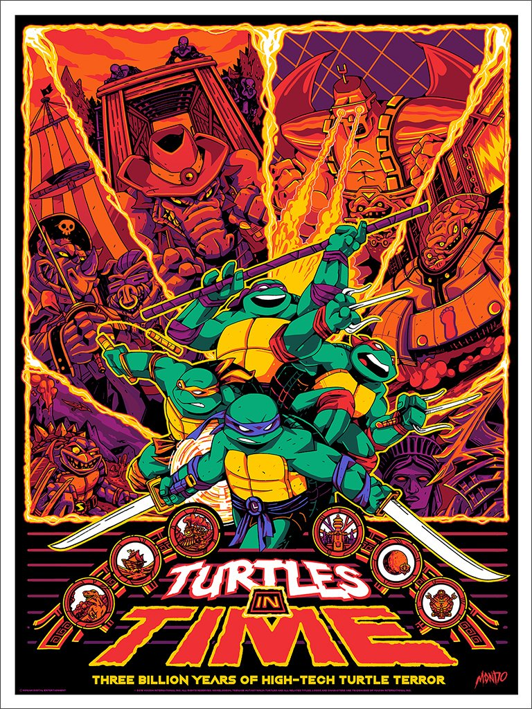 Teenage Mutant Ninja Turtles: Turtles in Time Print by Shane Hillman