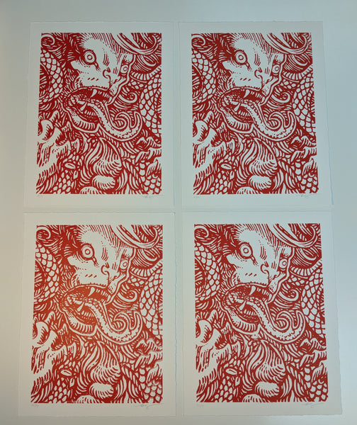 Manticore Woodblock Print By Becky Cloonan Poster