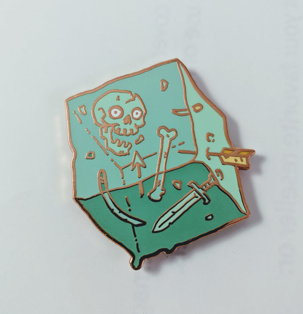 Gelatinous Cube (Rose Gold) Enamel Pin By Becky Cloonan